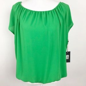 NWT Vince Camuto Short Sleeve Loose Blouse Top
